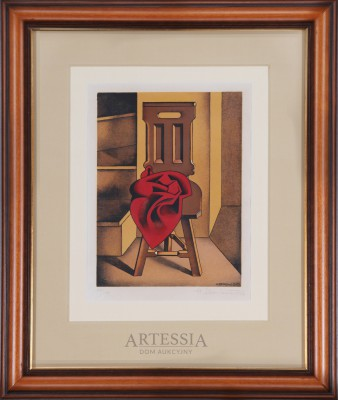 Krzesło z czerwoną tkaniną