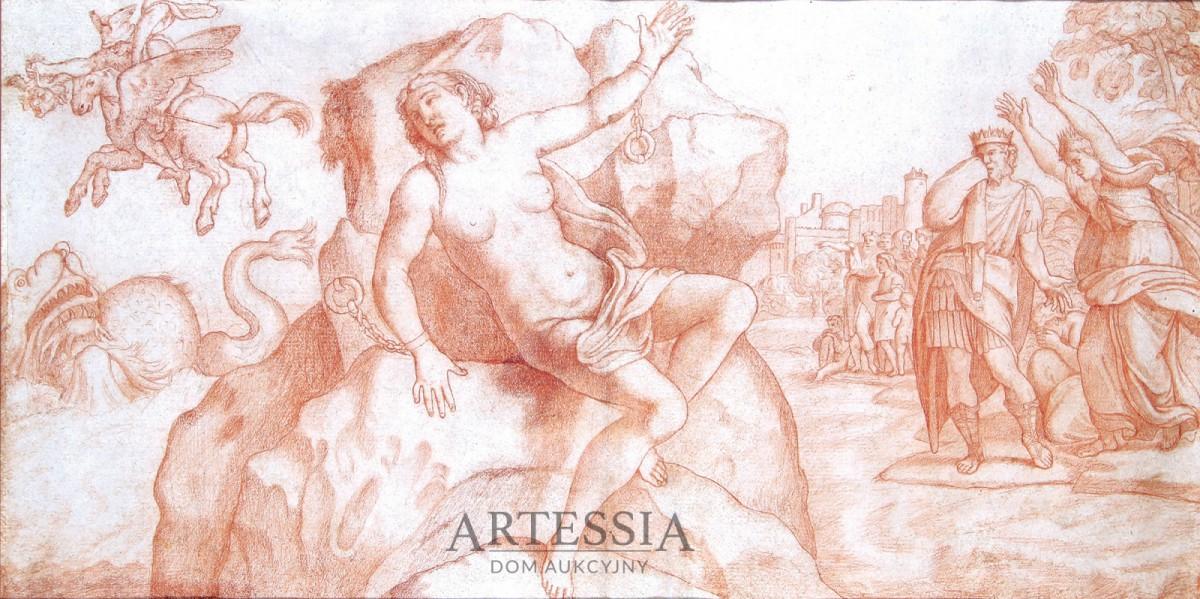 Andromeda przykuta do skały