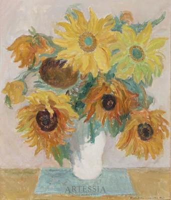 Słoneczniki w wazonie