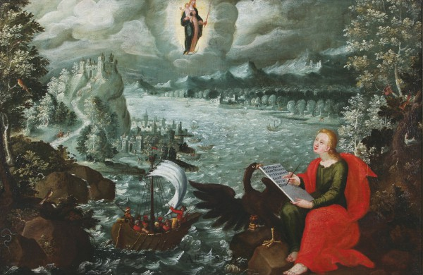 Św. Jan Ewangelista na wyspie Patmos