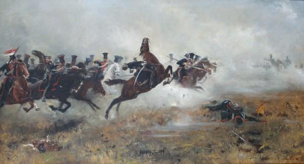 Szarża ułanów Księstwa Warszawskiego pod Borodino