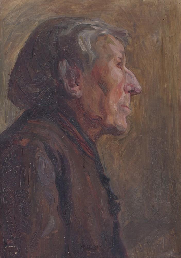 """Studium portretowe """"Głowa dziada"""""""